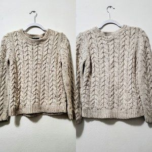 H&M Women's Crewneck Cable Knit Sweater